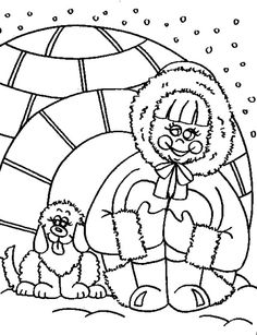 Inuit And Igloo House Coloring Page : Coloring Sky House Colouring Pages, Online Coloring Pages, Coloring Pages For Girls, Coloring Sheets, Igloo House, Free Coloring, House Colors, Dogs, Sky
