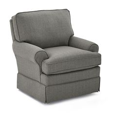The charming, traditional design of the Best Chairs Quinn Swivel Glider makes it perfect for any nursery. This glider is upholstered in plush polyester fabric, and it features large rolled arms, a tailored skirt, and a stylish corded trim. Best Chairs Glider, Swivel Glider, Comfy Armchair, Leather Recliner Chair, Furniture Gliders, Find Furniture, Restoration Hardware Chair, Toddler Table And Chairs, Office Chair Without Wheels