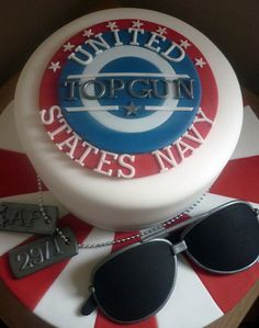 top gun cake