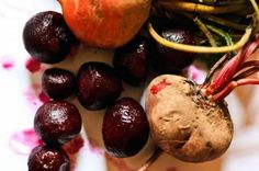 Beets are high in betalain, an antioxidant that gives them that purple hue and may help ward off cancer and other degenerative diseases [3]. Vitmains A, B, and C offer additional benefits ranging from bolstering the immune system to helping the body produce collagen [4]. A healthy dose of potassium, which is essential for proper organ function, and fiber, which keeps the digestive tract regular and helps maintain heart health, help round out beets' nutrition profile.