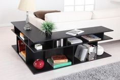 Zara Sofa Table in Black - modern - side tables and accent tables - AllModern