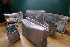 Coudre des vide-poches et des trousses de toilette Telito - Cthéusine aime le DIY Hamper, Magazine Rack, Creations, Organization, Storage, Diy, Decor, Toiletry Bag, Toilets