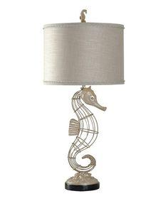Look at this #zulilyfind! Champagne Ware Seahorse Table Lamp #zulilyfinds