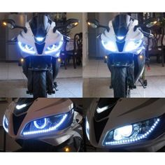 """2"""" HID Bi-Xenon Projector Lens Light with Angel Devil Eyes Ballast For Motorcycles"""