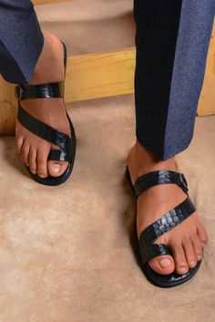 Comfortable Men's Sandals, Leather Toe Ring Sandals, Leather Toe Loop Sandals, Casual Sandals Men, Luxury Sandals Men by Father Paul Nike Slippers, Mens Slippers, Summer Slippers, Toe Loop Sandals, Men Sandals, Flat Sandals, Gladiator Sandals, Leather Slippers For Men, Fashion Sandals