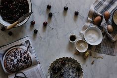 making cherry clafoutis from Vibrant Food by Beth Kirby | {local milk}, via Flickr