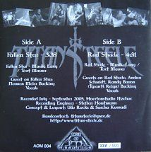 45cat - Titan Steele - Fallen Star / Red Steele - Anger Of Metal Records - Germany - AOM 004