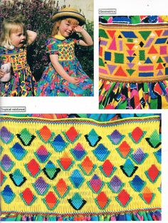 Smocking With Colour Using the 'Jigsaw' Method of by SparrowFinds