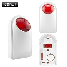 Cheap siren strobe, Buy Quality siren wireless directly from China siren outdoor Suppliers: KERUI Outdoor Wireless Flashing Siren Strobe Light Siren For KERUI Alarm Security System Home Security Alarm System, Blitz, Home Safety, Light Sensor, Strobing, Plein Air, Strobe Light, Indoor Outdoor, Stuff To Buy
