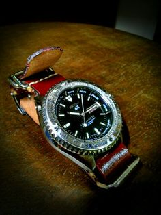 SEIKO LAND MASTER AGS (first )and NATO TYPE CORDOVAN original watch belt