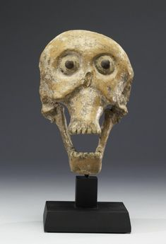 An Aztec/Mexican Mask portraying a skull and symbolising the concept of life generated from death. (Walters Museum)