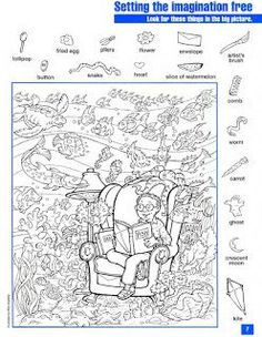 EnAnOSaLTaRíN: 10/01/2013 - 11/01/2013 Hidden Picture Games, Hidden Picture Puzzles, Hidden Object Puzzles, Hidden Objects, Hidden Pictures Printables, Hidden Images, Hidden Pics, Christmas Classroom Door, Kids Class