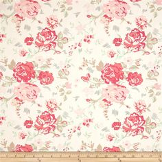 Le Vintage Chic Nostalgic Romance Fabric by the Yard Vintage Flower Prints, Vintage Flowers, Coral Fabric, Romantic Roses, Art Gallery Fabrics, Floral Theme, Textures Patterns, Fabric Patterns, Sewing Patterns