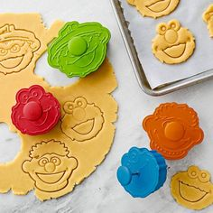 Turn up the oven with these Sesame Street sandwich cookie cutters  ($20) and get help from four beloved characters: Cookie Monster, Elmo, Ernie, and Oscar the Grouch.