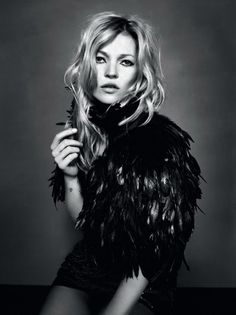 Kate Moss, topshop, black and white