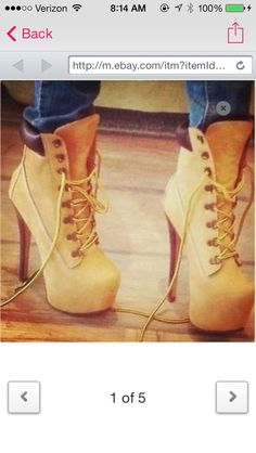 shoes high heels timberlands  alrighty,  pin these to my closet