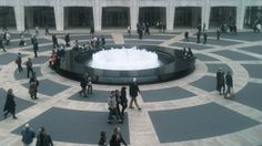 The fountain at Lincoln Center...love the circles...