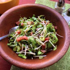 Shaved Asparagus & Prosciutto Salad #whole30 #salad #sidedish