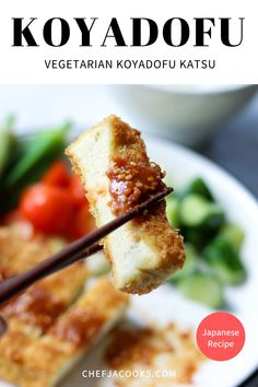 Vegaterian Recipes, Easy Baking Recipes, Healthy Dessert Recipes, Cooking Recipes, Japanese Vegetarian Recipes, Vegetarian Dinners, Vegetarian Dish, Tofu Dishes, Tasty Dishes