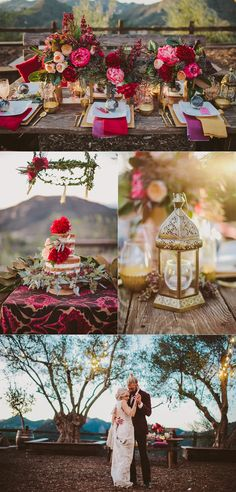 Bohemian Wedding Decor Inspiration in Malibu at Cielo Farms for Travelers!! Wanderlust takes shape with globes, pops of floral color & travel decor!  Surrounded by views & vineyards. Photo by WIld Whim Design & Photography