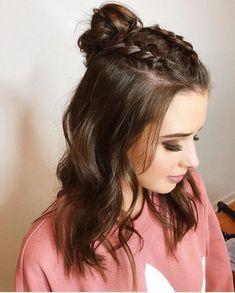 Easy Hairstyles for Meduim Length Hair For This Season – Pag - Trend Hair styles modelist Teen Hairstyles, Box Braids Hairstyles, Trending Hairstyles, Hairstyle Ideas, Indian Hairstyles, School Hairstyles, Updo Hairstyle, Pretty Hairstyles, Newest Hairstyles
