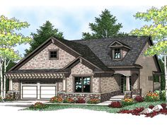 Gallini Craftsman Home  from houseplansandmore.com