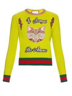 dafba2f6a979d Cat-embellished wool sweater