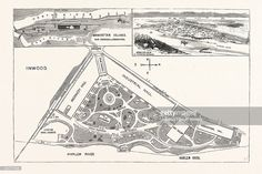 Ground Plan And Elevation Of The Buildings. Avenues And Approaches Proposed For The World's Fair At Inwood.