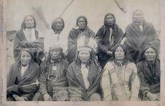 Jefes Indios el día que firmaron la rendición ante los EEUU
