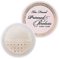 Sephora: Too Faced : Primed & Poreless Powder : setting-powder-face-powder Too Faced, Bronzer, Concealer, Sephora, Tips For Oily Skin, Finishing Powder, Best Natural Skin Care, Makeup Items, Face Primer