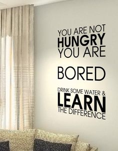 You are not hungry Health Workout Motivational Fitness Life workout Quote wall vinyl decals sticker Positive Quotes, Motivational Quotes, Inspirational Quotes, Great Words, Wise Words, Wall Quotes, Life Quotes, Salud Natural, Clever Quotes