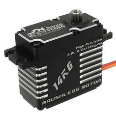 JX BLS-7114MG 14KG High Precision Steel Gear Digital Brushless Servo For RC Robot