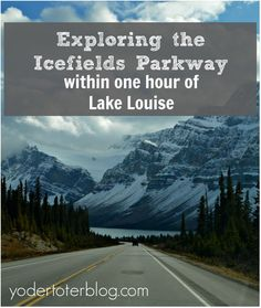 You don't have to drive a long distance on the Icefields Parkway to enjoy spectacular mountain and lake views.  In fact, you can have a full day of exploring within just an hour's drive of Lake Louise.  Check it out.