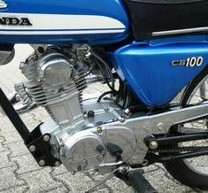 Vintage Honda Motorcycles, Honda Bikes, Honda Cb 100, Motorcycle Engine, Super Sport, The 100, Engineering, Racing, Yard