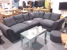 This Tasha Corner Suite Including Arm Chair And Pouffe Is Now Available From Wrexham Warehouse Furniture