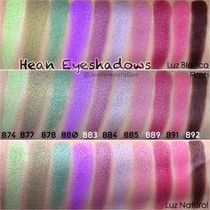 #Swatches Sombras HIGH DEFINITION EYESHADOW de HEAN @heancosmetics #jennifermakeupglam #jmug #makeup #beauty #hean #heancosmetics #swatch #highdefinition #eyeshadow #eyeshadows