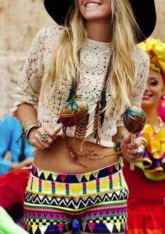 Festival Aztec Print Fashion