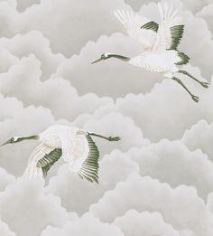 Papel Pintado Harlequin  CRANES IN FLIGHT 111230 . Disponible online en Modacasa.es