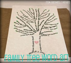 Family tree....tutorial