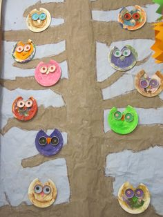 Min Naturliga Sida: Ugglor av papperstallrikar Kindergarten, Teaching Art, Pre School, Ark, Diy For Kids, Arts And Crafts, Kids Rugs, Birds, Inspiration