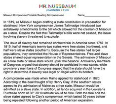 picture about Mr Nussbaum Reading Comprehension Printable identified as (nussbaumeducationnetworkllc) upon Pinterest