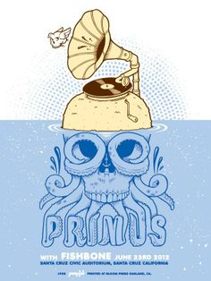 INSIDE THE ROCK POSTER FRAME BLOG: Jeremy Fish's Santa Cruz Primus Poster on sale NOW