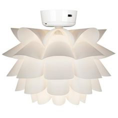 White Flower Ceiling Fan Light Kit--cute, mod, still keep my hot girl cool