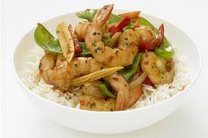 Prawn Stir Fry with Garlic, Chilli & Coriander  #Recipe  #GourmetGarden