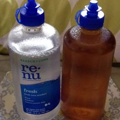 Repurpose a clean, empty contact solution bottle to fill with apple cider vinegar. 3-5 drops on a cotton ball moistened with water=all natural skin toner. (can rinse after if you wish)