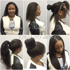 Now THIS is a sew-in!!!😍 My signature PERFECT PONY™ SEW-IN is versatile, and allows you to wear your hair down, or up in a high ponytail or bun! Call or text Natalie B. to schedule your appointment today! (312) 273-8693