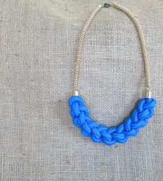 Nautical Rope Knot Necklace - Royal by bedeckle on Etsy https://www.etsy.com/listing/176864277/nautical-rope-knot-necklace-royal