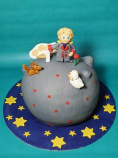 Who wouldn't love this simple — yet gorgeous – The Little Prince cake? This one was made by HaveSomeSugar. Pretty Cakes, Cute Cakes, Beautiful Cakes, Amazing Cakes, Cake Pops, Cooking Humor, Cooking Food, Prince Cake, Royal Icing Sugar