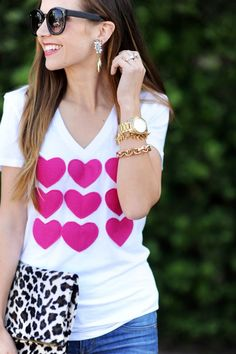 DIY Heart Attack Valentine's Day T-Shirt with full tutorial!