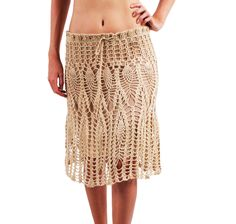 Crochet Pencil Skirt - SEM GRAFICO